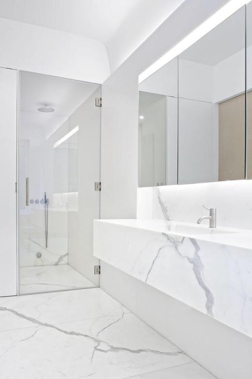 полировка мрамора в ванной комнате